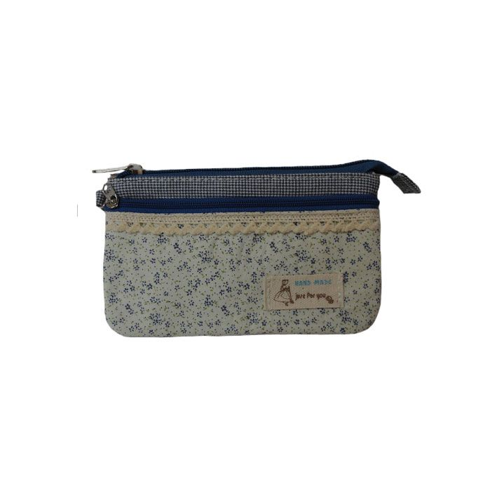 کیف آرایشی مدل Blue Flower