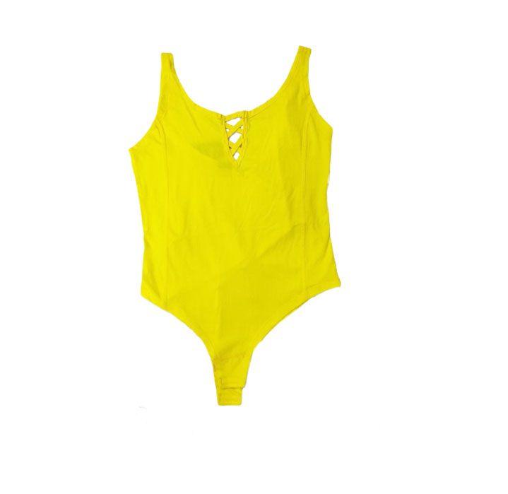 بادی زنانه Colorful مدل Yellow